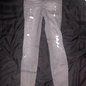 HIGH RISE SUPER SKINNY CROPPED JEANS